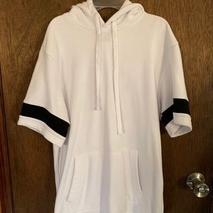 NWOT Forever 21 Short-Sleeve Hoodie, Size S